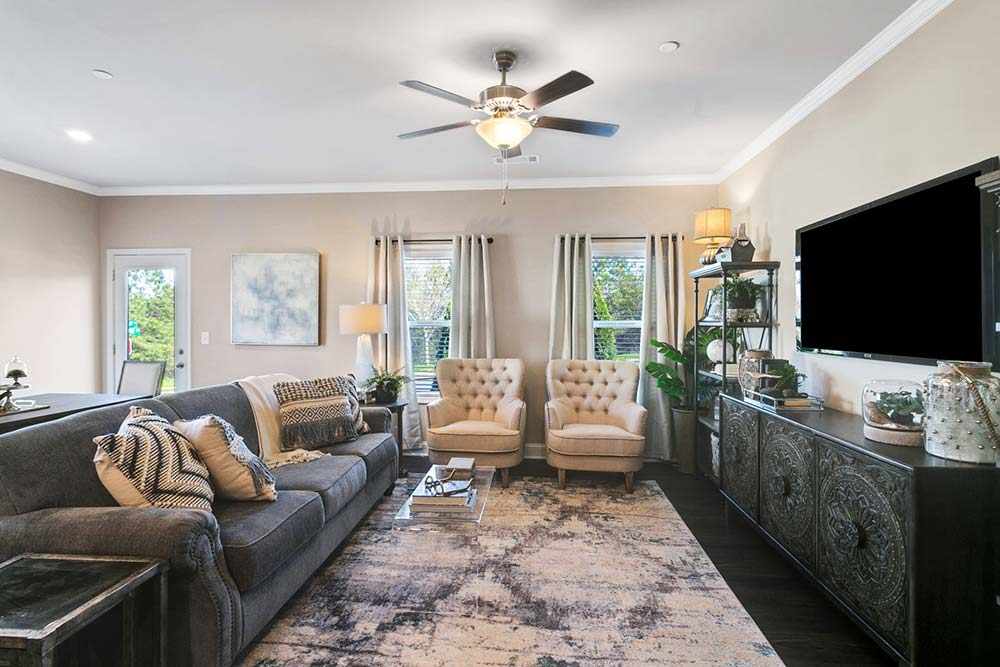 luxury living room in canton apartments